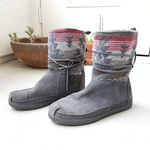 Toms Nepal tribal suede boots